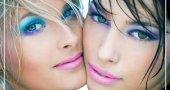 Цвет волос, тени, румяна, тушь, подводка для зеленых глаз