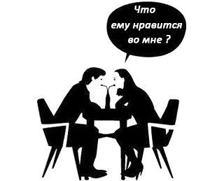 Интерес мужчины к женщине.