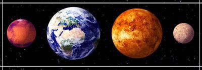 Планеты земной группы.