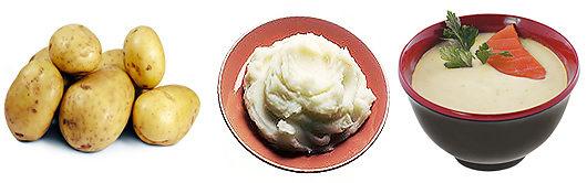Калорийность картофеля.