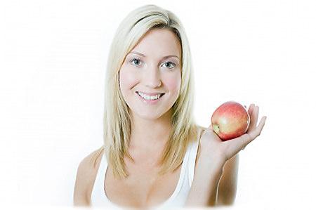 Я худею на яблоках.