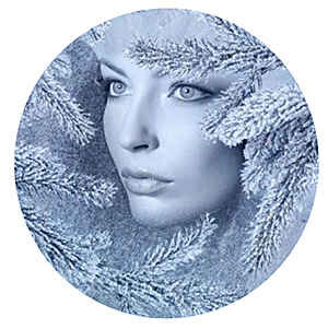 Холодное лицо девушки