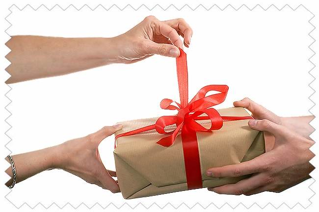 Подарки от мужчин.