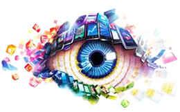 Глаз в различных цветах