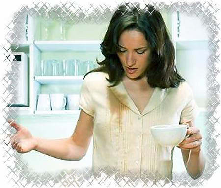 Пятно от кофе.