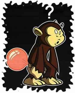 Невероятно тужилась обезьянка