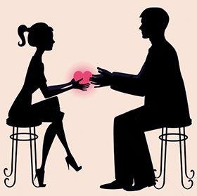 Мужчина и женщина влюблены