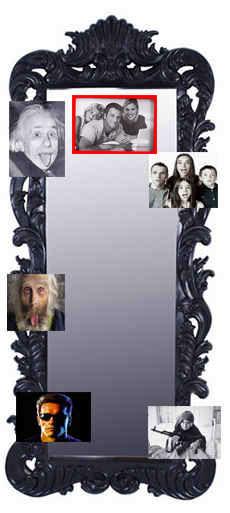 Зеркальная фото коллекция