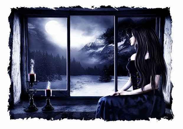 Я люблю ночью долго смотреть на луну