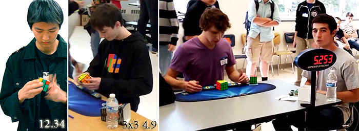 Чемпионы по сборке кубика - рубика