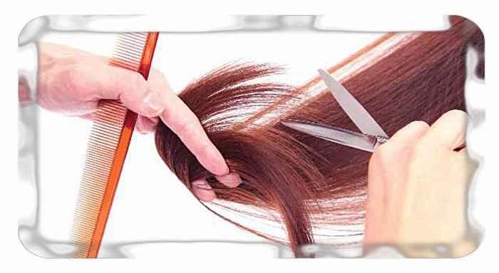 Зачес и отмер волос