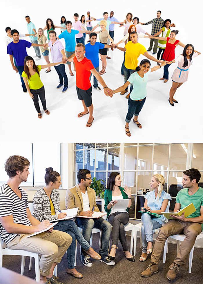 Люди, объединившиеся в группы